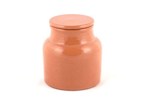 grande boîte céramique naturel pot à coton gris pot à coton artisanal pot en terre pot céramique