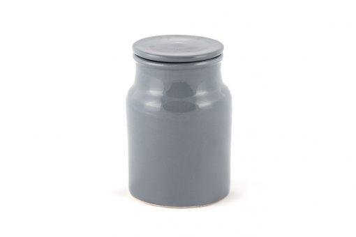 petite boîte céramique gris pot à coton gris pot à coton artisanal pot en terre pot céramique