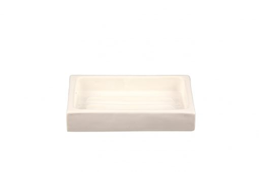 Damya – Porte-savon céramique blanc