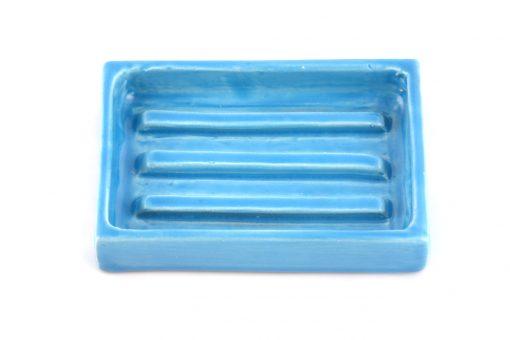 Damya – Porte-savon céramique bleu 2