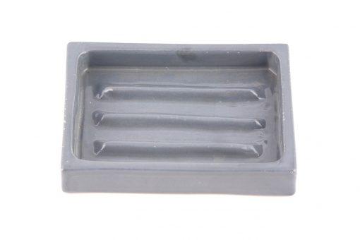 Damya – Porte-savon céramique gris 2