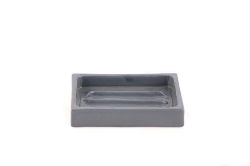 Damya – Porte-savon céramique gris 1