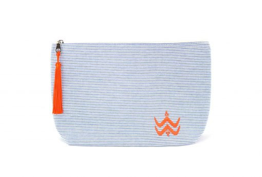Illayal – Grande trousse à soufflet marine orange 1
