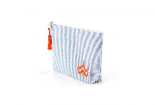 Illayal – Petite trousse à soufflet marine orange 2