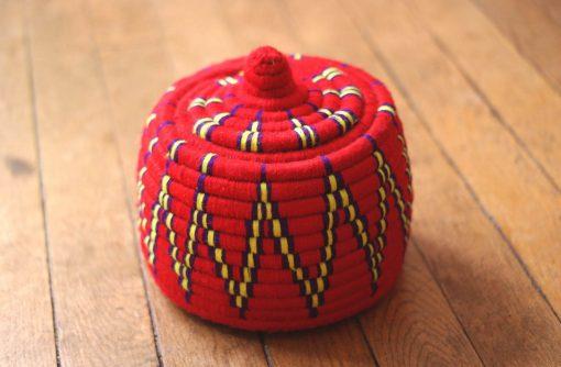 grand panier berbère rouge panier laine rouge panier marocain rouge panier africain rouge