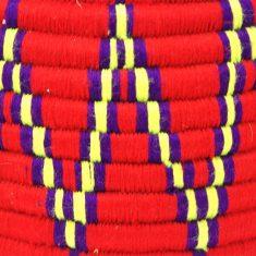 grand panier berbère rouge panier laine rouge panier marocain rouge