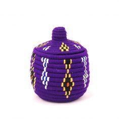 panier berbère violet panier laine violet panier marocain violet