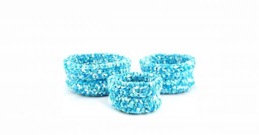 Bisofa – Paniers en laine blanc et bleu 1
