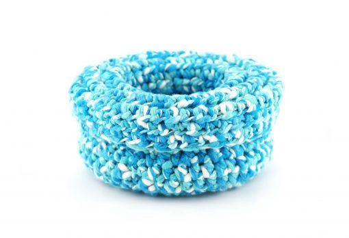 Bisofa Paniers en laine blanc bleu