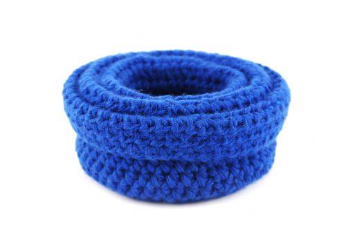 Bisofa – Paniers en laine bleu foncé 3