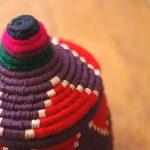 Aryal Tamezla – Petit panier berbère violet 2