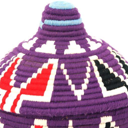 Aryal – Panier berbère violet Tekna 2