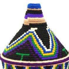 panier berbère noir panier laine noir panier marocain noir panier sahara noir