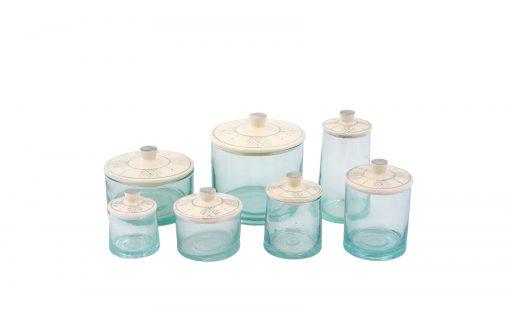 Pots verre couvercle gris maroc berbère