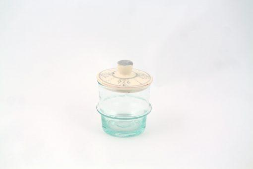 Babeldi – Petit pot en verre beldi à couvercle XS Gris