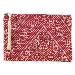 El Fassia – Grande trousse marocaine brodée rouge