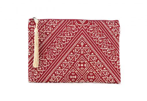 grande trousse marocaine brodée rouges trousse brodée trousses rouges trousse marocaine rouge