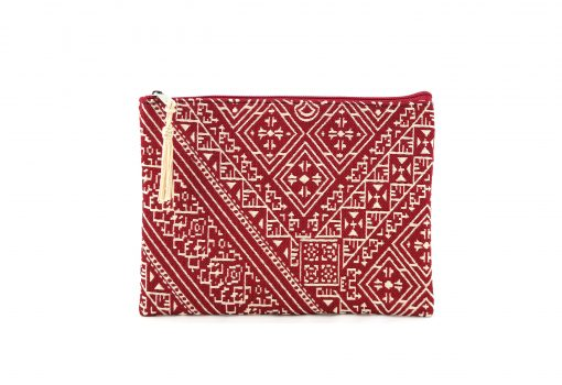 El Fassia – Moyenne trousse marocaine brodée rouge