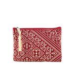 El Fassia – Petite trousse marocaine brodée rouge