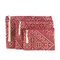 El Fassia – Trio de trousses marocaines brodées rouges