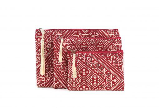 trousses marocaines brodées rouges trousse brodée trousses rouges trousse marocaine rouge