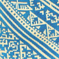 El Fassia – Trousse marocaine brodée bleue – 1
