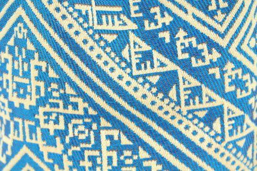 el fassia trousse de toilette maroc broderie artisanat bleu turquoise