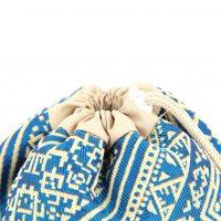 El Fassia – Trousse marocaine brodée bleue – 2