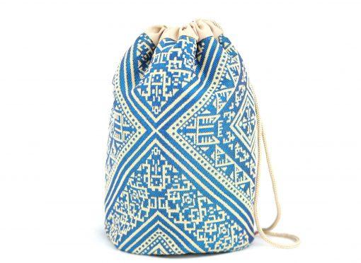 El Fassia – Trousse marocaine brodée bleue