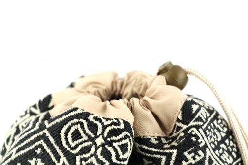 el fassia trousse marocaine brodée noire bourse trousse de toilette artisanat