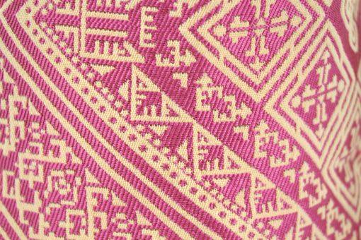 el fassi trousse maroc motif broderie oriental arabe rose