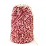 El Fassia – Trousse marocaine brodée rouge