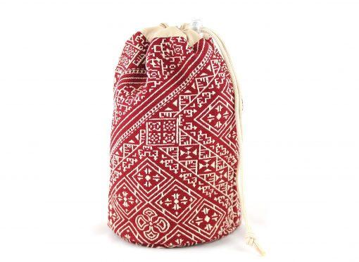 el fassia trousse marocaine brodée rouge bourse