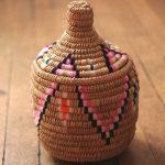 Aryal – Panier berbère naturel et couleurs Aklou – Modèle 1