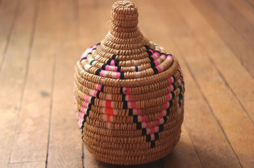 panier naturel panier berbère naturel panier laine panier marocain panier africain naturel panier africain rose