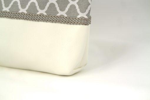 pochette orientale grise soufflet passementerie soie sabra gris cuir simili zellij