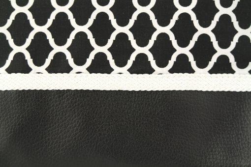 pochette orientale noire sabra trimmings moroccan handicraft sabra vegetal silk pattern zellij zellige simili cuir motif oriental