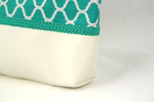 Pochette orientale verte turquoise – Passementerie turquoise