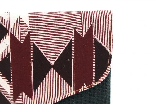 pochette wax noire pochette africaine wax jute pochette jute