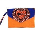 Timbuktu Pochette Wax Orange et jute #2