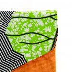 Timbuktu Pochette Wax Orange et jute #1