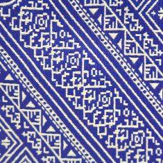 El Fassia Trousse marocaine broderie détail tarz fassi bleu