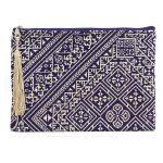 El Fassia – Grande pochette marocaine brodée violette