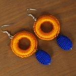 boucles-d-oreilles-marocaines-orange-bleu-silya