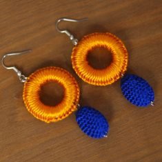 créoles marocaines orange créoles boho bleu boucles d'oreilles tissu boucles d'oreilles maroc bleu boucles d'oreilles pompon bleu boucles d'oreilles orientales boucles d'oreilles marocaines bleu bloucles d'oreilles passementerie