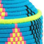Awilan – Panier berbère bleu turquoise et jaune 4