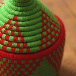Azegzaw – Panier berbère vert 3